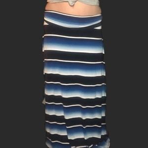 Merona Skirts - Bright Blues Striped Maxi Skirt